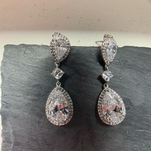 Nadri CZ wedding earrings